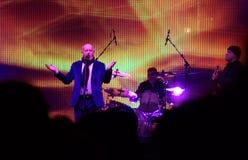 Le concert vivant de signal de groupe de rock Image libre de droits