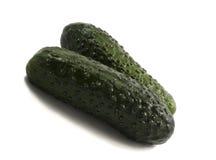 Le concombre végétal vert est produit utile pour des salades Images libres de droits