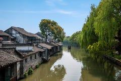 Le concours est de porte de Jiaxing Wuzhen se transportera photos stock