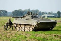 Le conflit armé images libres de droits