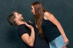 Le conflit des couples Photo libre de droits