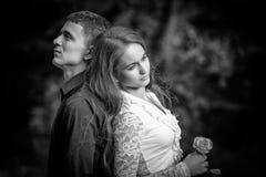 Conflit et stress émotionnel dans les jeunes photos stock