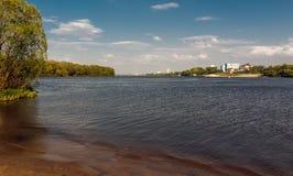 Le confluent de la rivière de Moskva et de la rivière d'Oka Photos libres de droits