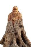 La sculpture sur bois en Confucius aiment Image stock