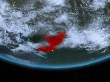 Le Congo la nuit illustration de vecteur