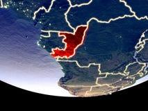 Le Congo la nuit de l'espace image stock