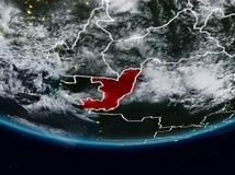 Le Congo pendant la nuit illustration libre de droits