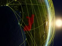 Le Congo sur la terre reliée au réseau de planète photographie stock