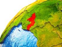 Le Congo sur terre 3D photographie stock libre de droits