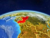 Le Congo sur terre de l'espace images libres de droits