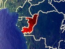 Le Congo sur terre la nuit photo stock