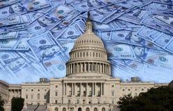 Le congrès dépensant votre argent Photos stock