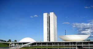 Le congrès national du Brésil à Brasilia Photo stock