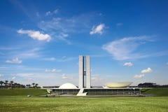 Le congrès national du Brésil Images libres de droits