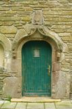 Le conquet in brittany. Typical old house door of le conquet city of brittany in france Royalty Free Stock Photos