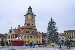 Le Conseil Brasov carré, Roumanie Photo libre de droits