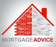 Le conseil d'hypothèque signifie à la maison des finances illustration stock