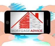 Le conseil d'hypothèque signifie le rendu à la maison des finances 3d illustration stock