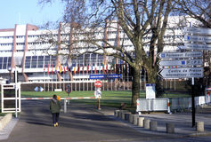 Le Conseil de l'Europe - Strasbourg, France Photo stock