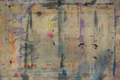 Le conseil de Painteréclaboussé du fond 7 de couleurs Images libres de droits