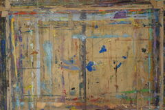 Le conseil de Painteréclaboussé du fond 6 de couleurs Photos libres de droits