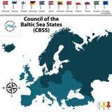 Le Conseil des états de mer baltique Photographie stock