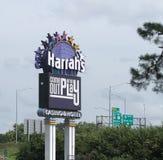 Le Conseil du casino de Harrah bluffe le signe de l'Iowa photographie stock libre de droits