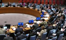 Le Conseil 7760 les Nations Unies se réunissantes de sécurité Image stock