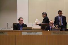 Le conseil municipal de Brentwood interdit la culture médicale AB266 de marijuana passée unanimement Photographie stock