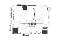 Le conseil principal 3D de CPU a rendu le blanc Image stock