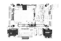 Le conseil principal 3D de CPU a rendu le blanc Images stock