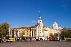 Le Conseil régional de Voronezh des syndicats sur Lénine Photographie stock libre de droits
