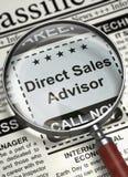 Le conseiller de ventes directes joignent notre équipe 3d Images stock