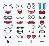 Le constructeur de sourire, différents éléments de vecteur pour l'émotion conçoivent illustration de vecteur