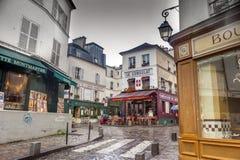 Le Consulat餐馆/酒吧,巴黎,法国 免版税库存照片