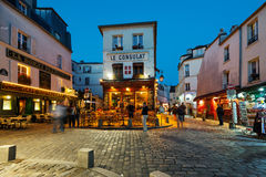 Le Consulat night view. Royalty Free Stock Photography
