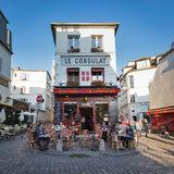Le Consulat a typical cafe in Montmartre. Stock Photos