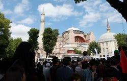 LE CONTACT DEVANT HAGIA SOPHIA, ISTANBUL. Image stock