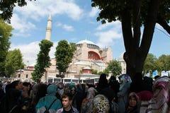 LE CONTACT DEVANT HAGIA SOPHIA, ISTANBUL. Photo libre de droits