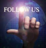 le contact du doigt 3d nous suivent illustration Photographie stock libre de droits