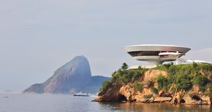 Le contemporain moderniste Art Museum de Niteroi Images libres de droits