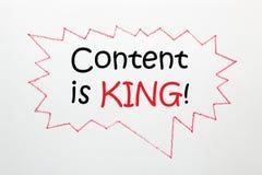 le contenu est concept de roi illustration libre de droits