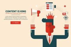le contenu est concept de roi illustration de vecteur