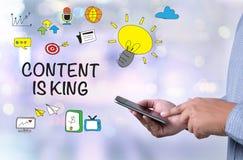 le contenu est concept de roi Image stock