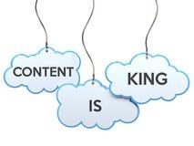 Le contenu est roi sur la bannière de nuage illustration libre de droits