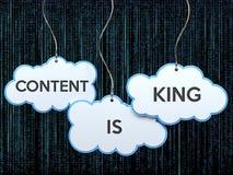 Le contenu est roi sur la bannière de nuage illustration stock