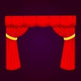 Le contexte intérieur d'entrée de tissu de représentation de texture de tissu d'étape de rideau en abat-jour de scène de théâtre  illustration libre de droits