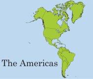 Le continent américain Image libre de droits