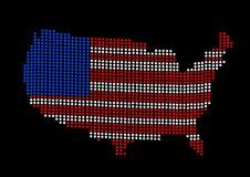 le contour de carte de forme indique les Etats-Unis Images libres de droits