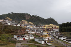 Le contour du temple de LangMu Photographie stock libre de droits